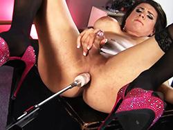 Stephany tricks Excited Stephany have sexual intercourse the machine. Stephany Tricks.
