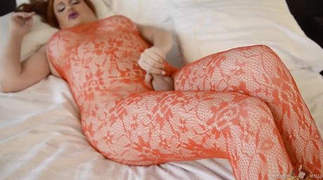 Wendy rubs her libidinous red lace on her rough throbbing cock.