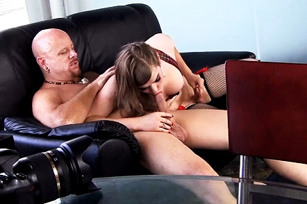 Tiffany backside fuck Petite Tiffany blowjob and rides a huge cock.
