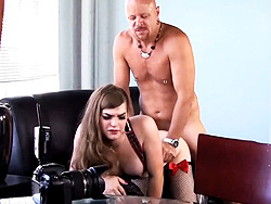 Tiffany anus fuck. Libidinous Tiffany gets her anus and mouth drilled